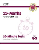 New 11+ CEM 10-Minute Tests: Maths - Ages 8-9 (with Online Edition)
