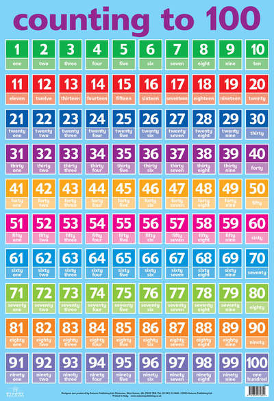 counting to 100 key stage 2 wall chart fs