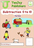 TeeJay Mathematics CfE Early Level Subtraction 0 to 10: The Farm (Book A6)