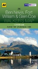 Walker's Map Ben Nevis, Fort William & Glen Coe