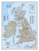 Britain And Ireland Flat Map