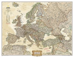 Europe Executive, Enlarged &, Laminated by National Geographic Maps