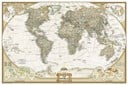 World Executive Map, Poster Sized, Boxed