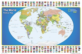 World For Kids, The, Poster Sized, Laminated by National Geographic Maps