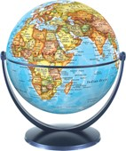 Political World Globe 15cm