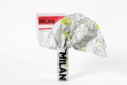 Milan Crumpled City Map