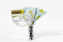 Sydney Crumpled City Map
