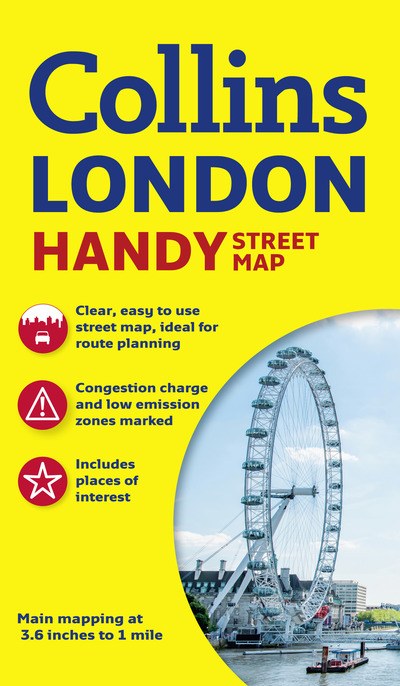 Easy London Map.Collins Handy Street Map London Collins Maps