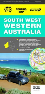 South-West Western Australia Map 682 5th ed by UBD Gregory's
