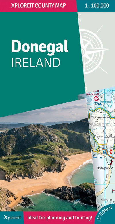 Map Of Ireland Book.Donegal Ireland