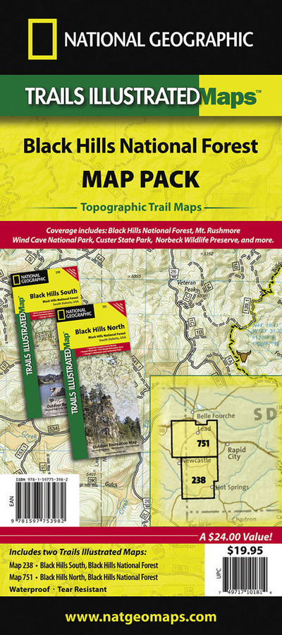 Black Hills National Forest, Map Pack Bundle National Geographic Maps