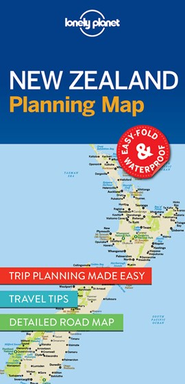New Zealand Planning Map by Lonely Planet