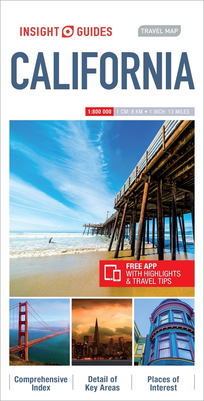 Insight Guides Travel Map California Insight Guides on