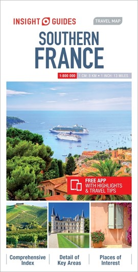 Insight Guides Travel Map Southern France by Insight Guides