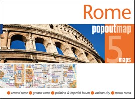 Rome PopOut Map by PopOut Maps