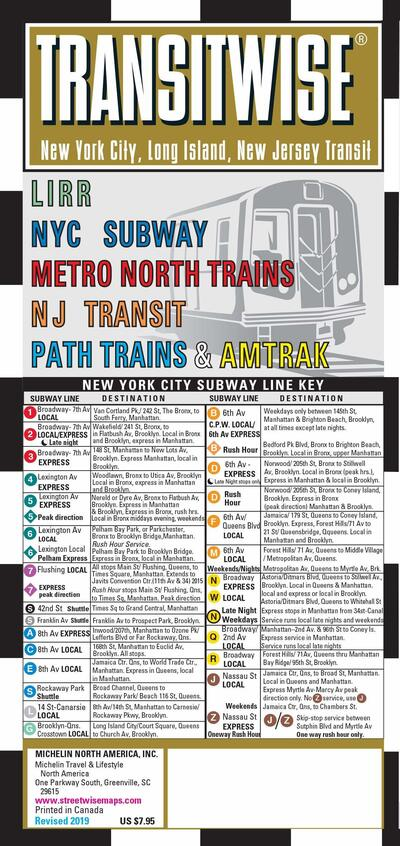 Subway Map Nyc Centre Street.Streetwise Map New York Transitwise Laminated City Center Street