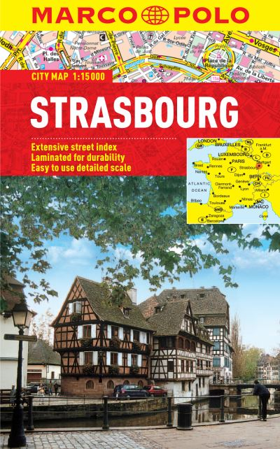 Strasbourg Marco Polo Laminated City Map Marco Polo Travel Publilshing
