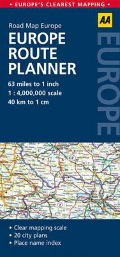 Road Map Europe Route Planner Aa Publishing