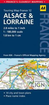 Road Map Alsace & Lorraine by AA Publishing