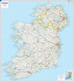 Ireland - Michelin rolled & tubed wall map Encapsulated