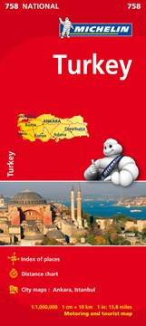 Turkey - Michelin National Map 758 by