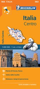 Italy Centre - Michelin Regional Map 563