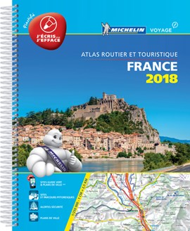 France 2018 Atlas A4 Laminated by