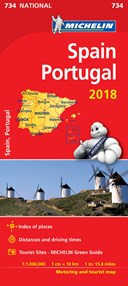 Spain & Portugal 2018 - Michelin National Map 734
