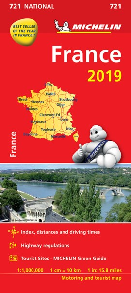 France 2019 - Michelin National Map 721 by