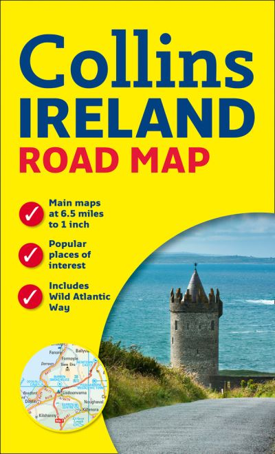 Detailed Road Map Of Ireland.Ireland Road Map Collins Maps