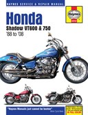 Honda Shadow VT600 & 750 motorcycle repair manual