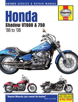 Honda Shadow VT600 & 750 motorcycle repair manual by Haynes Publishing