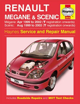 Renault Scenic & Megane service and repair manual by Haynes Publishing