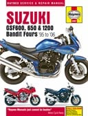 Suzuki GSF600, 650 & 1200 Bandit Fours motorcycle repair manual