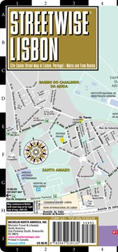 Streetwise Lisbon Map - Laminated City Center Street Map of Lisbon, Portugal by