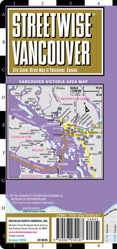 Streetwise Vancouver Map - Laminated City Center Street Map of ...