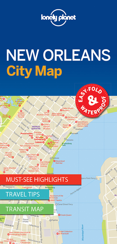 Lonely Planet New Orleans City Map Lonely Planet