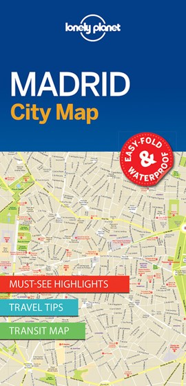 Lonely Planet Madrid City Map by