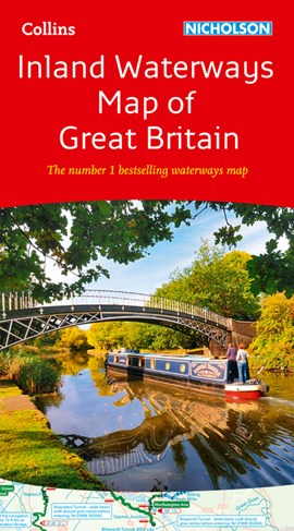 Collins Nicholson Inland Waterways Map of Great Britain by Collins Maps