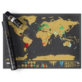 Scratch Map Deluxe Travel Edition - Black