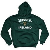 BOTTLE GREEN GUINNESS IRELAND COTTON POLYESTER UNISEX HOODY SMALL