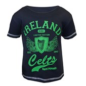 NAVY COTTON IRELAND CELTS WING KIDS TSHIRT 9/10