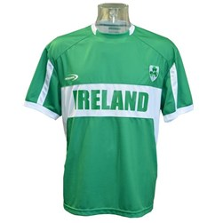 EMERALD GREEN POLYESTER IRELAND PERFORMANCE TOP LARGE