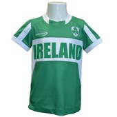 EMERALD GREEN POLYESTER IRELAND KIDS PERFORMANCE TOP 3/4