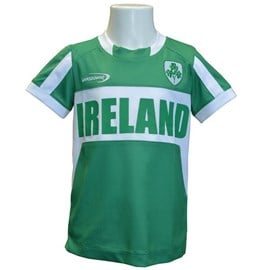 EMERALD GREEN POLYESTER IRELAND KIDS PERFORMANCE TOP 7/8