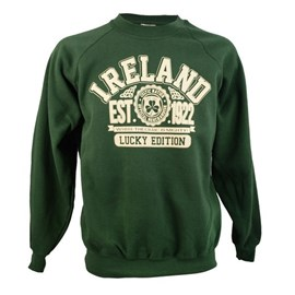 BOTTLE GREEN COTTON IRELAND SWEATSHIRT XXLARGE