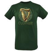 BOTTLE GREEN COTTON GUINNESS HARP TSHIRT XXLARGE