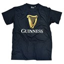 BLACK COTTON GUINNESS HARP TSHIRT LARGE