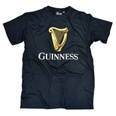 BLACK COTTON GUINNESS HARP TSHIRT MEDIUM