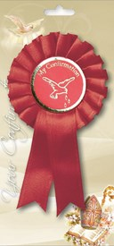 My First Confirmation Rosette Red